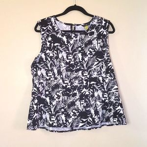 Jules & Leopold Tropical Sleeveless Blouse Top XL